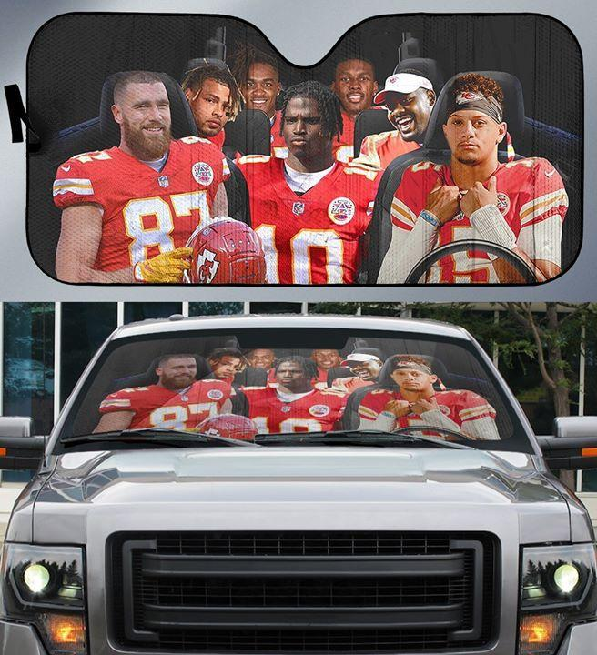 Kansas City Chiefs Fan Car Auto Sun Shade