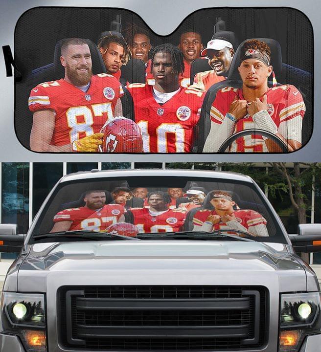 Kansas City Chiefs Players Car Auto Sunshade Auto Sun Shade