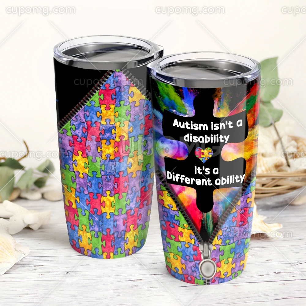 Autism Is Not A Disabilityits A Different Ability Tumbler 20 Oz