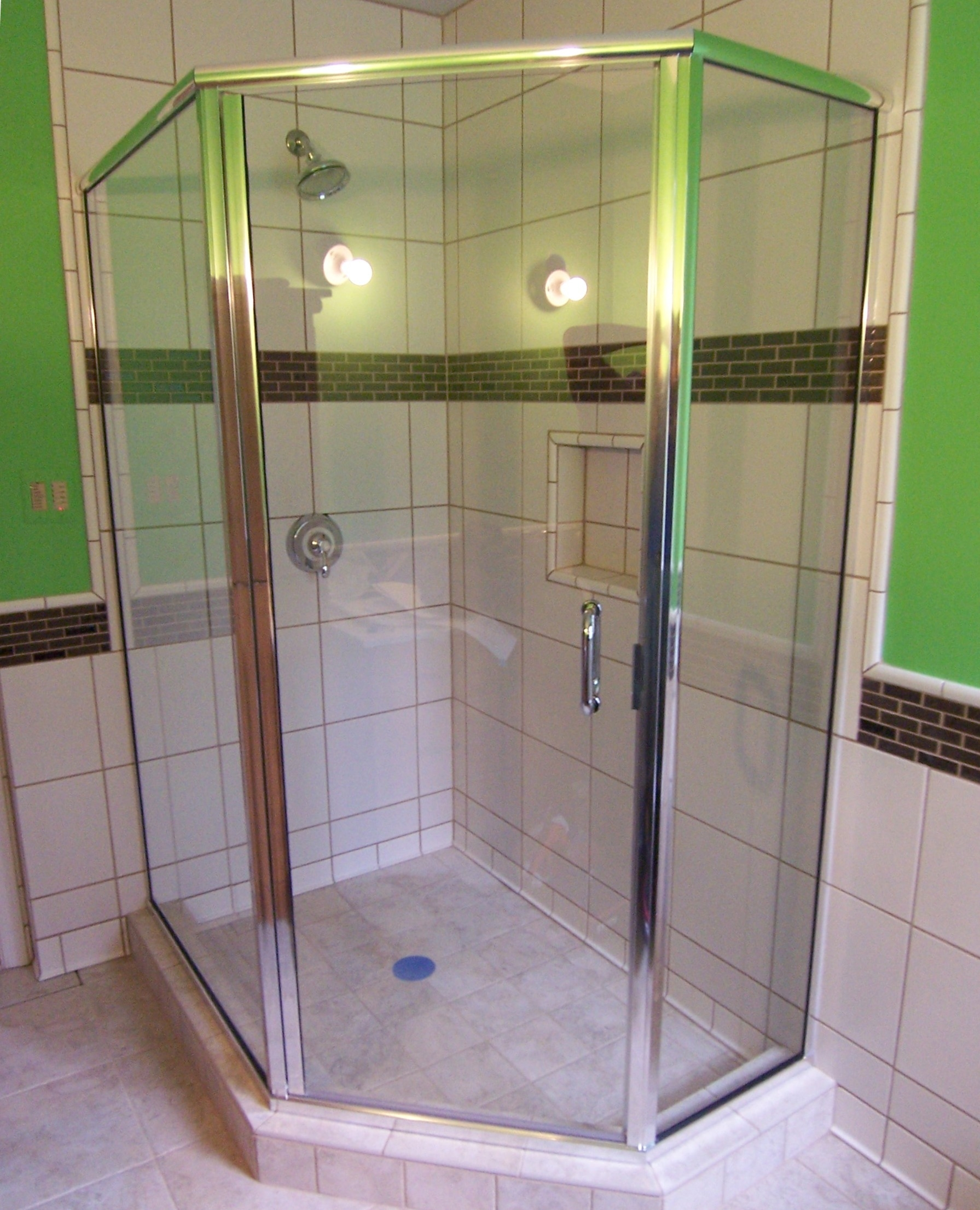 Permalink to Neo Angle Semi Frameless Shower Door
