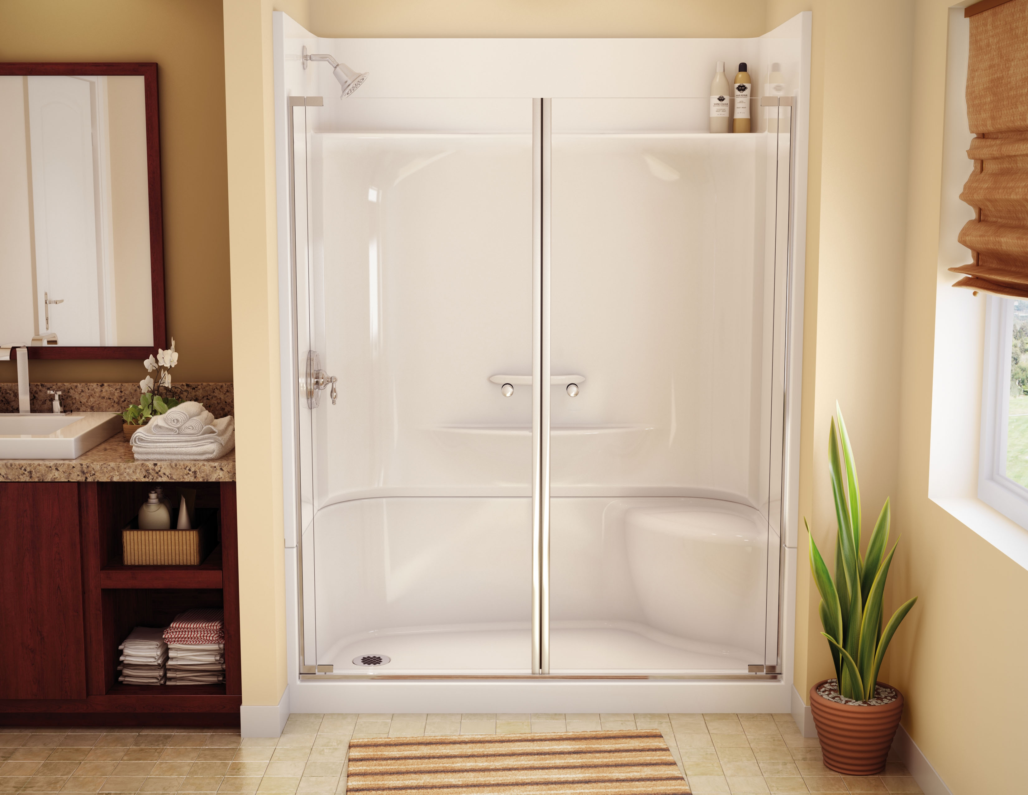 One Piece Showers With Doors