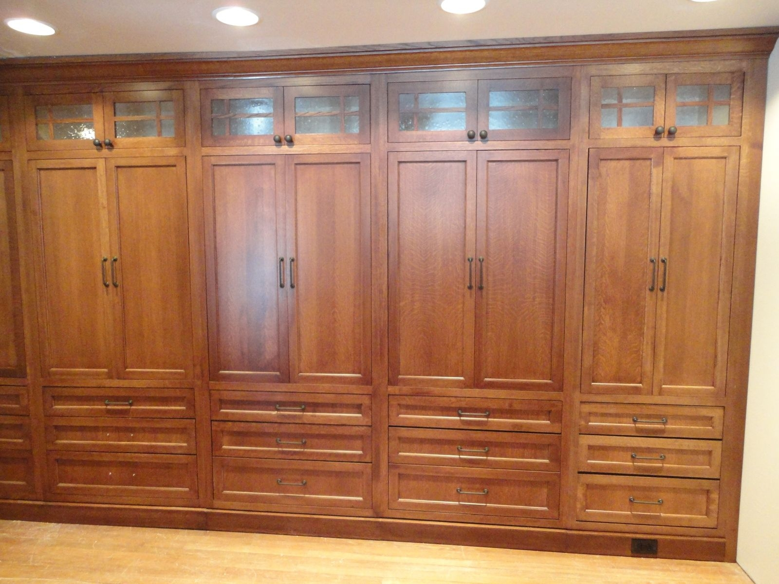 Closet Cabinets With Glass Doors