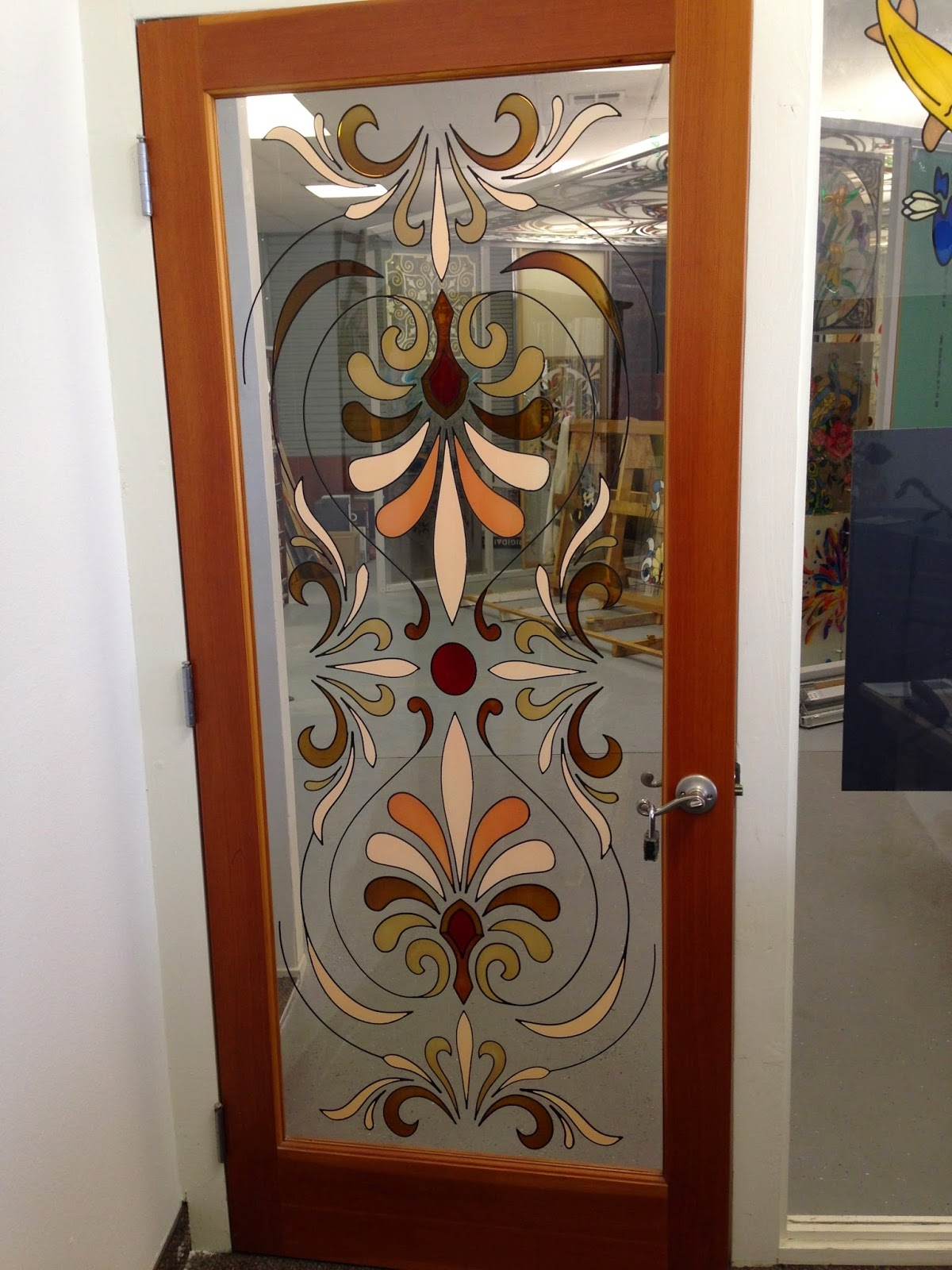 Closet Doors With Stained Glass