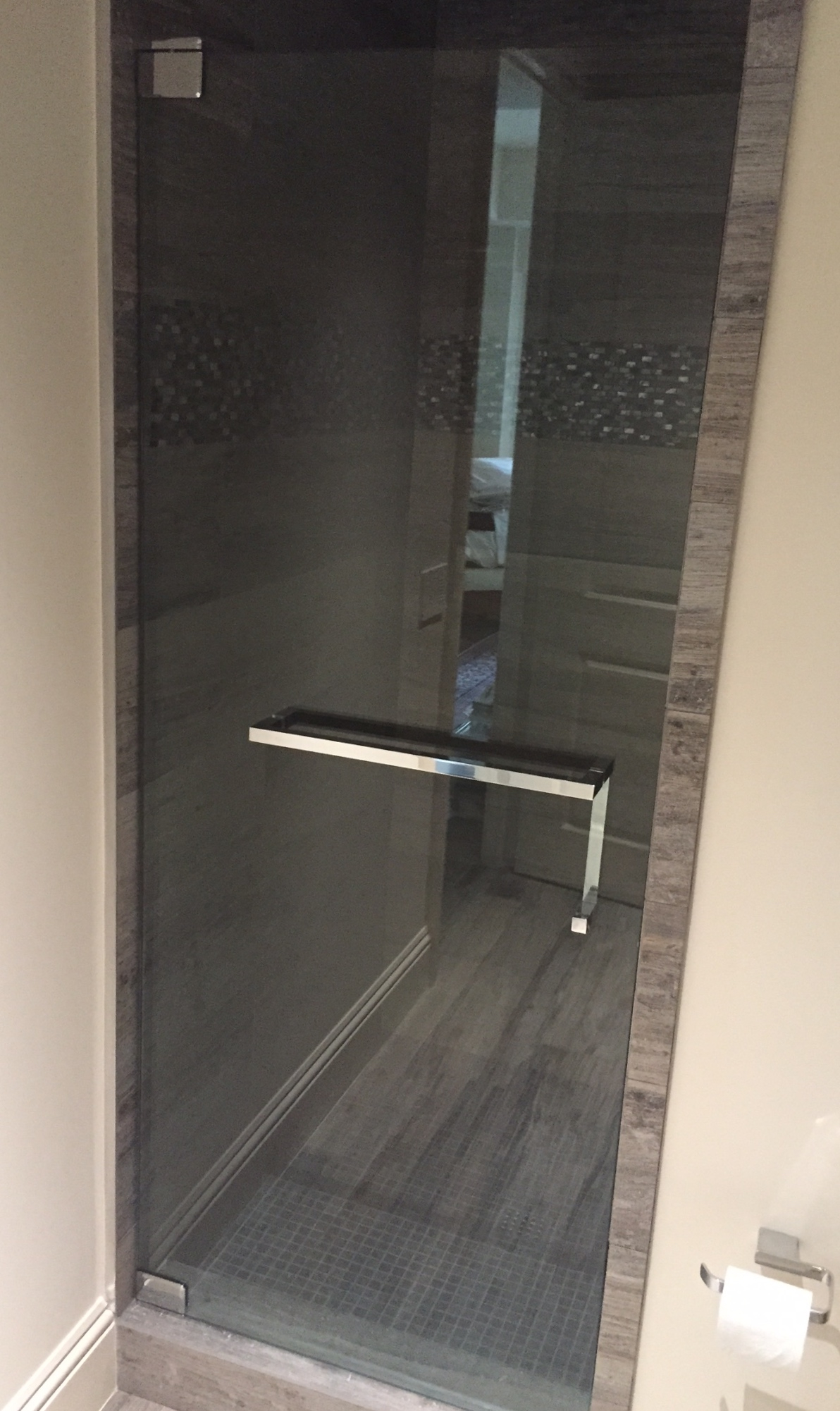 Frameless Glass Shower Door Towel Rackshower door towel bar brilliant the glass shoppe a division