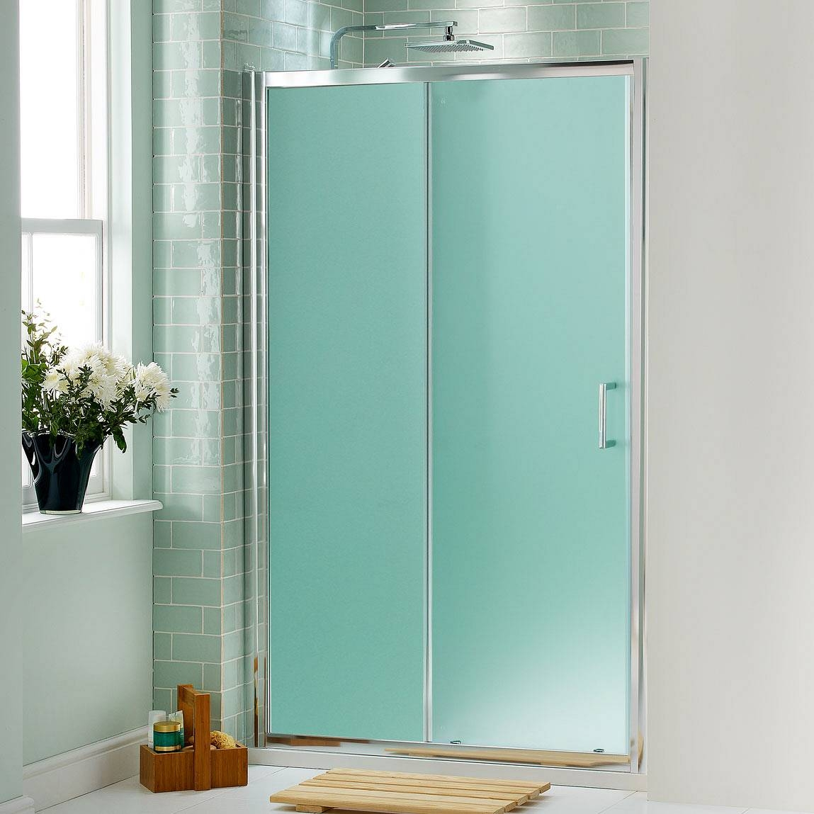Smoked Glass Sliding Shower Doors