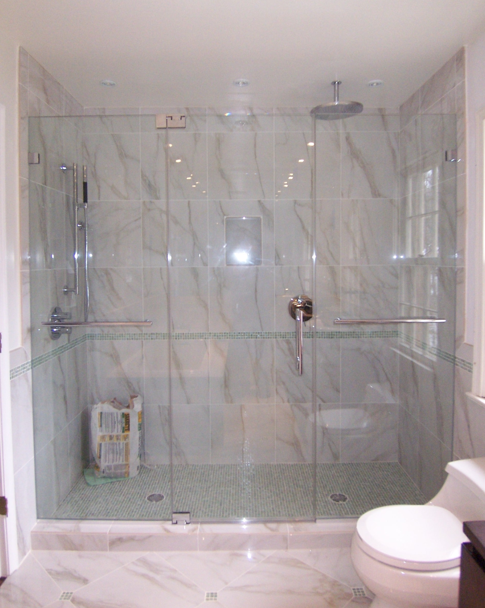 3 Panel Frameless Shower Door