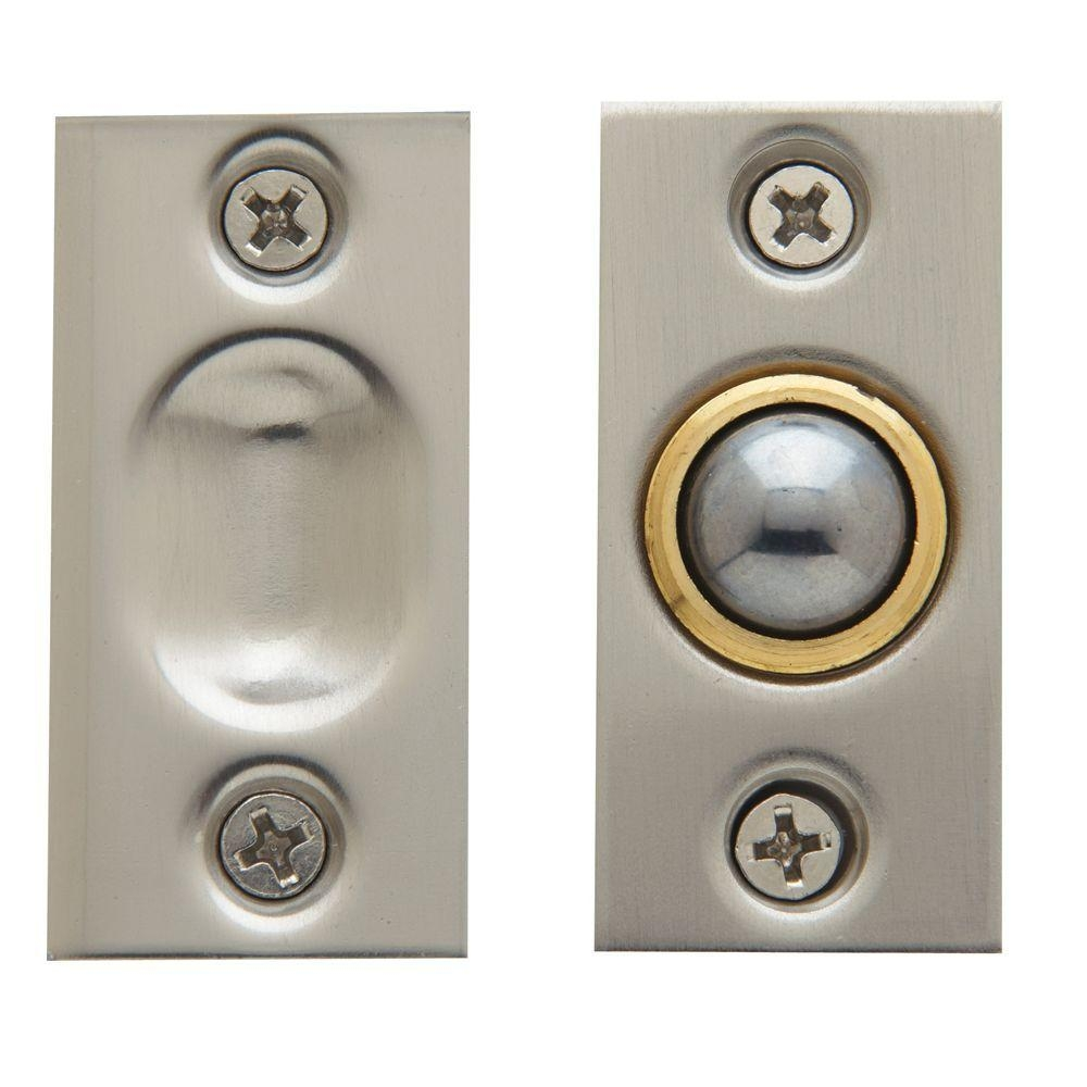 Closet Door Ball Catch Satin Nickel