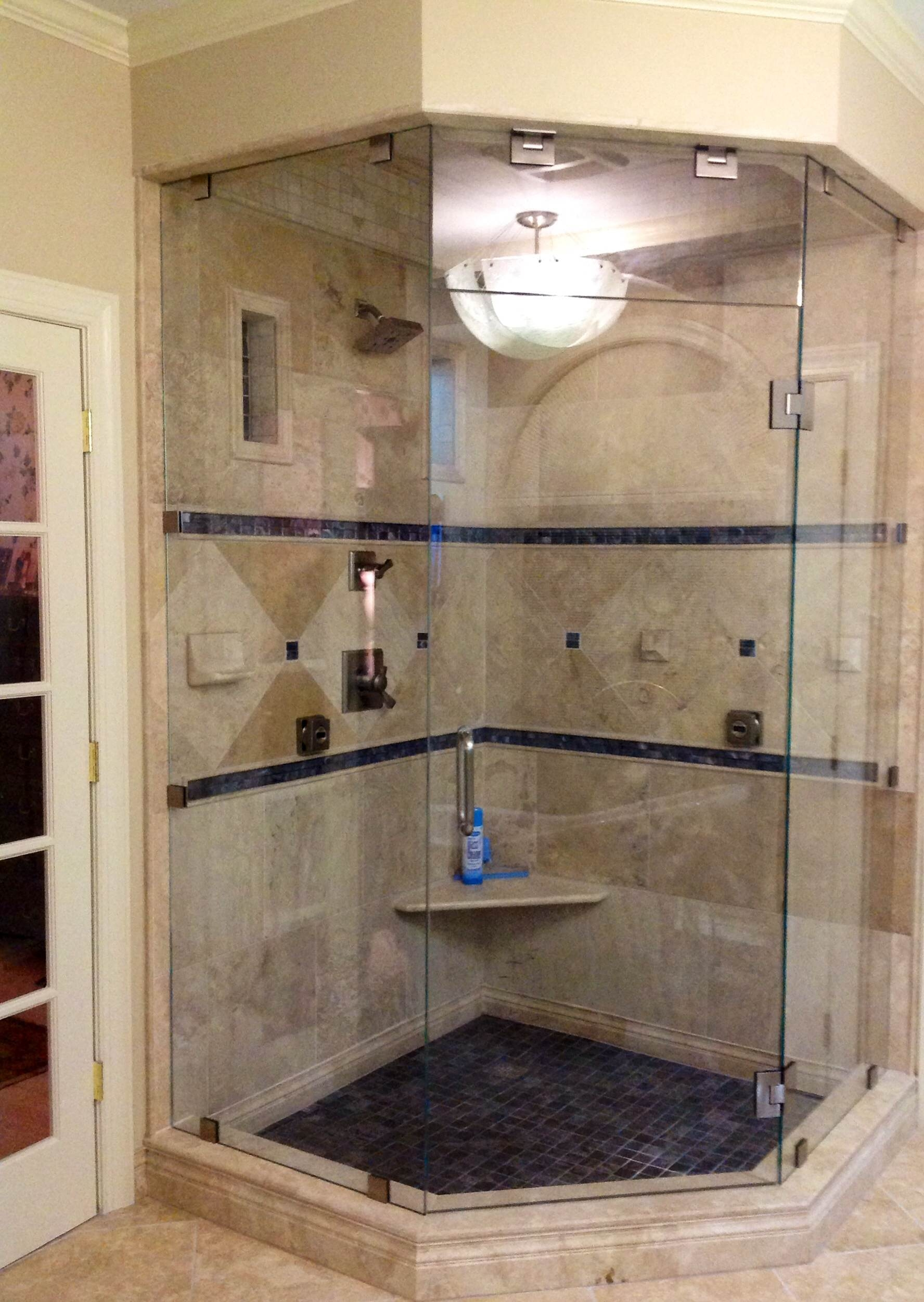 Custom Frameless Neo Angle Shower Doors