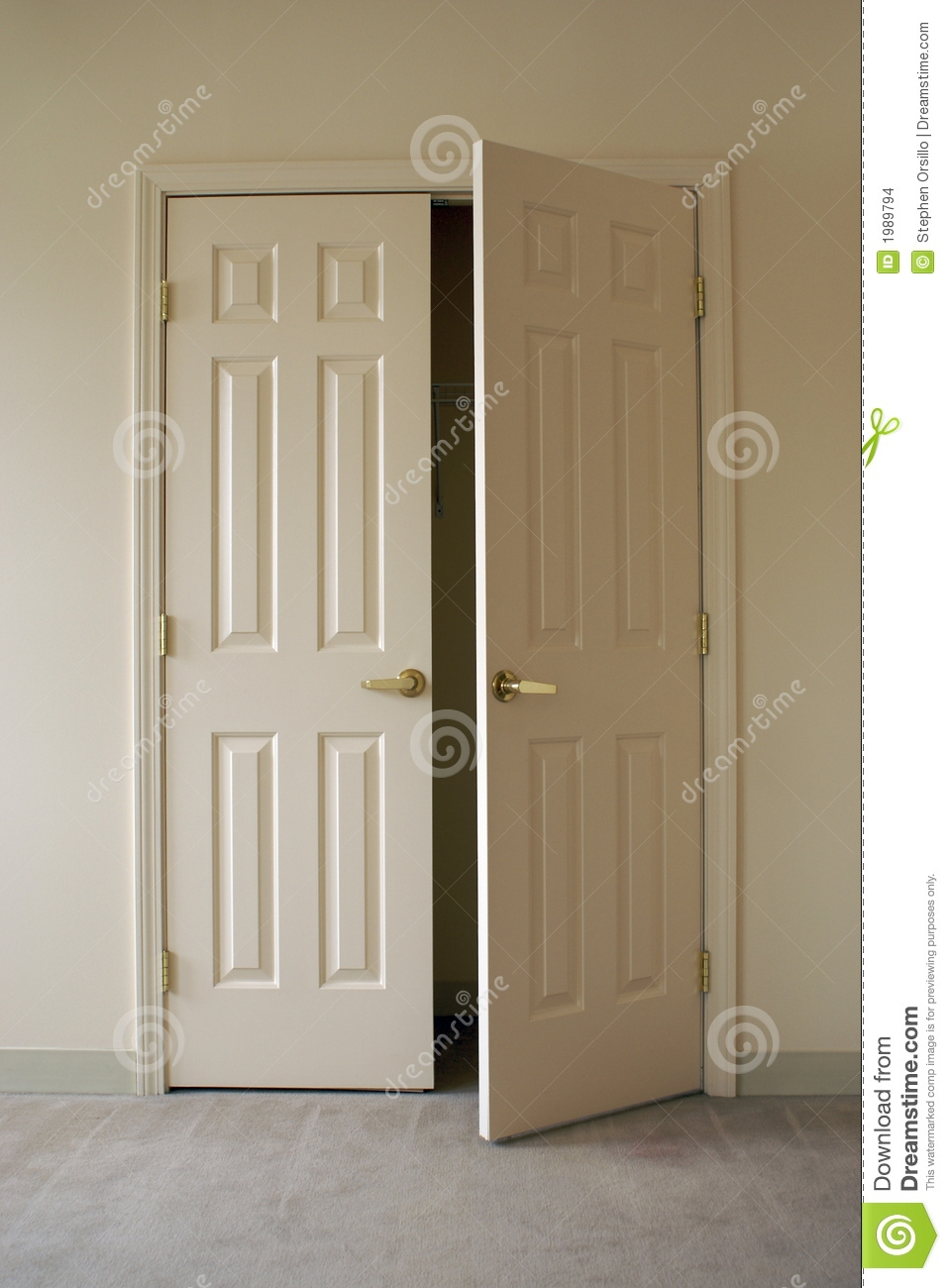 Double Closet Doors That Open Out