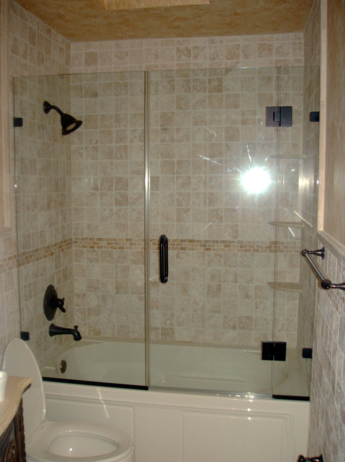 Frameless Shower Doors On Bathtub