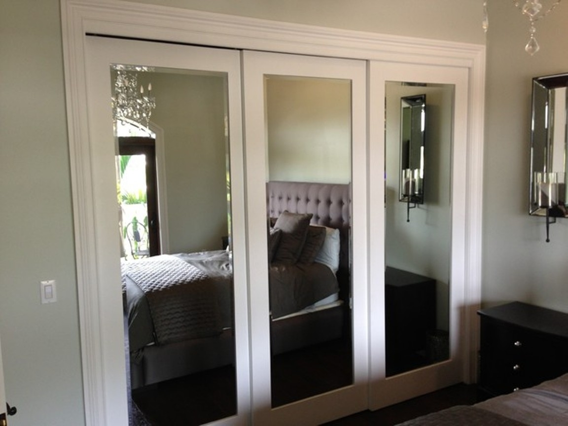 Mirror Glass Sliding Closet Doors