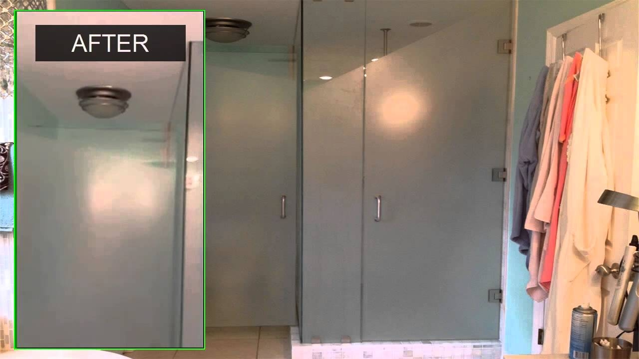 Privacy Shower Door Film