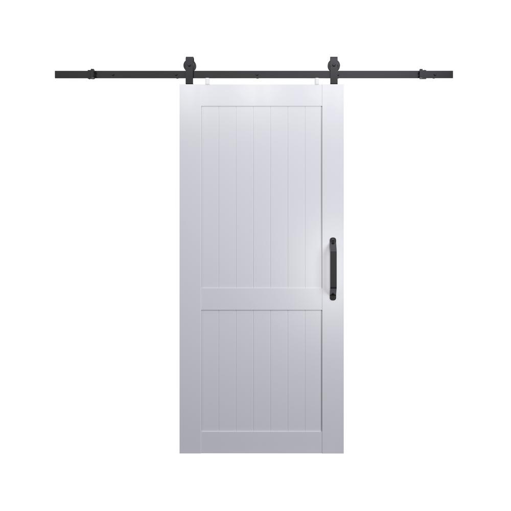 36 Wide Closet Doorspinecroft 36 in x 84 in millbrooke white h style pvc vinyl barn
