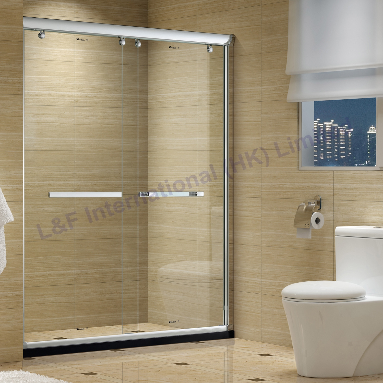 Permalink to Double Sliding Glass Shower Doors