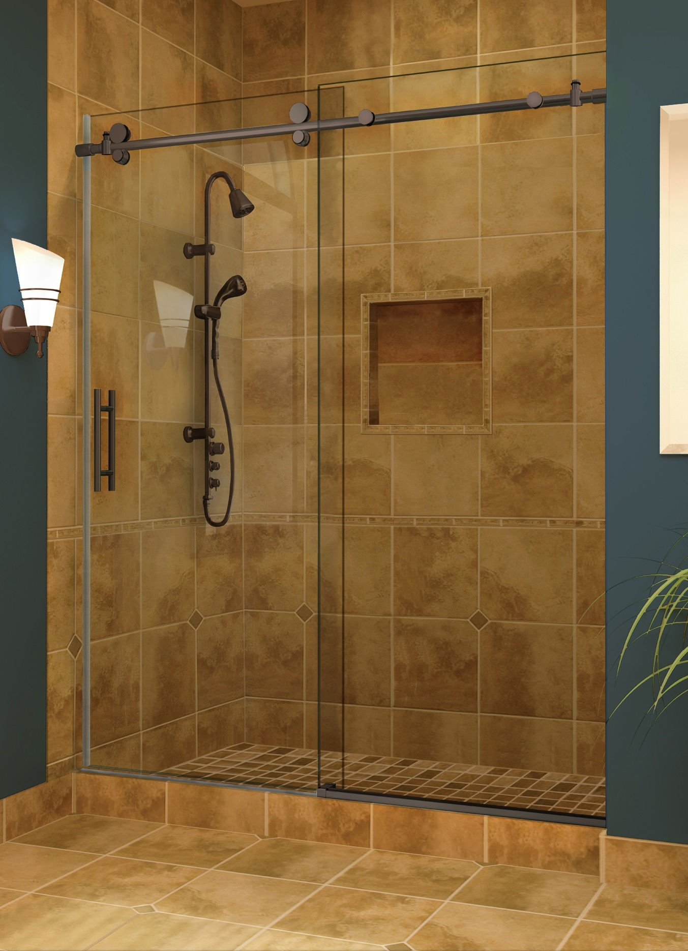 Frameless Rolling Shower Doors