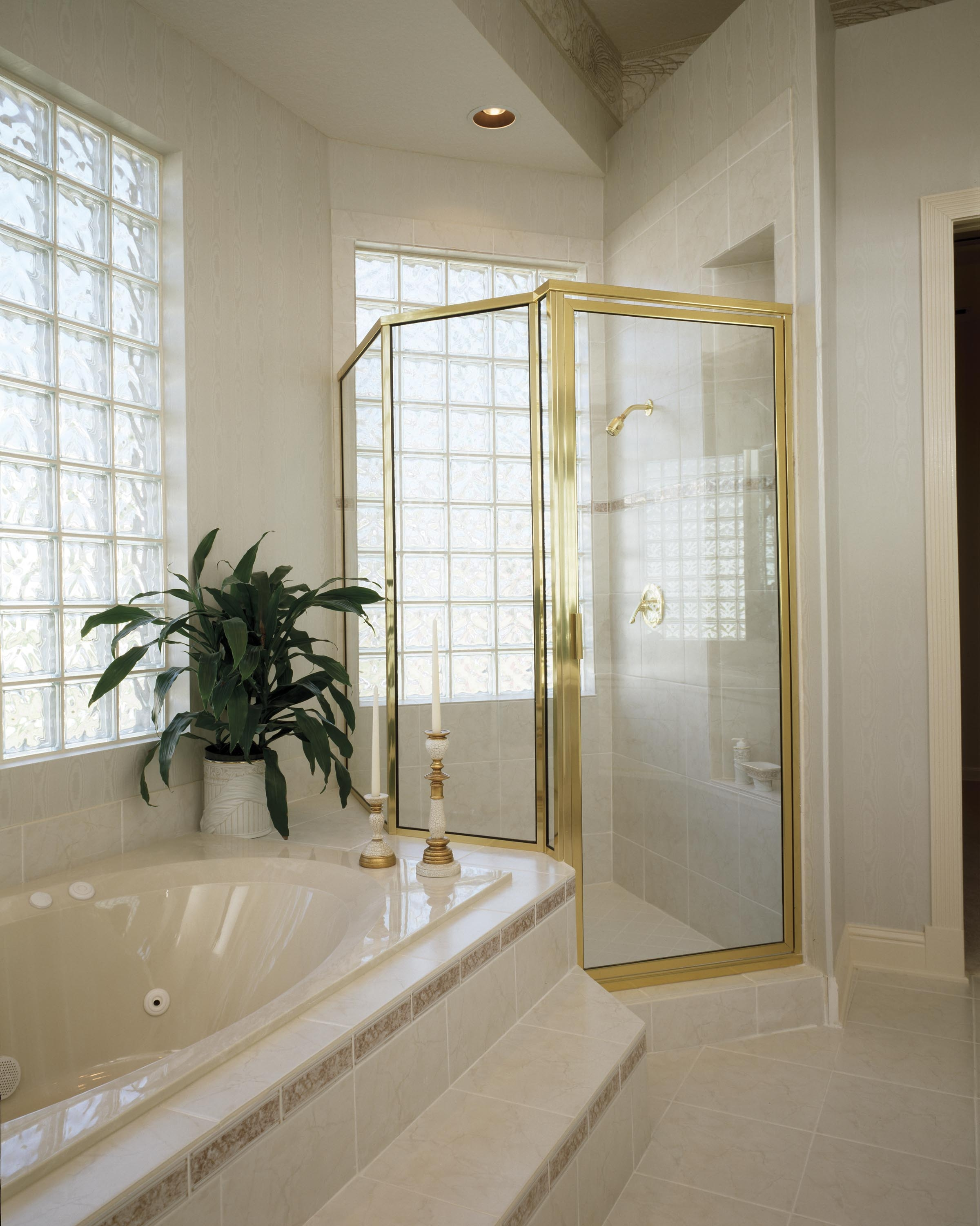 Gold Framed Shower Door