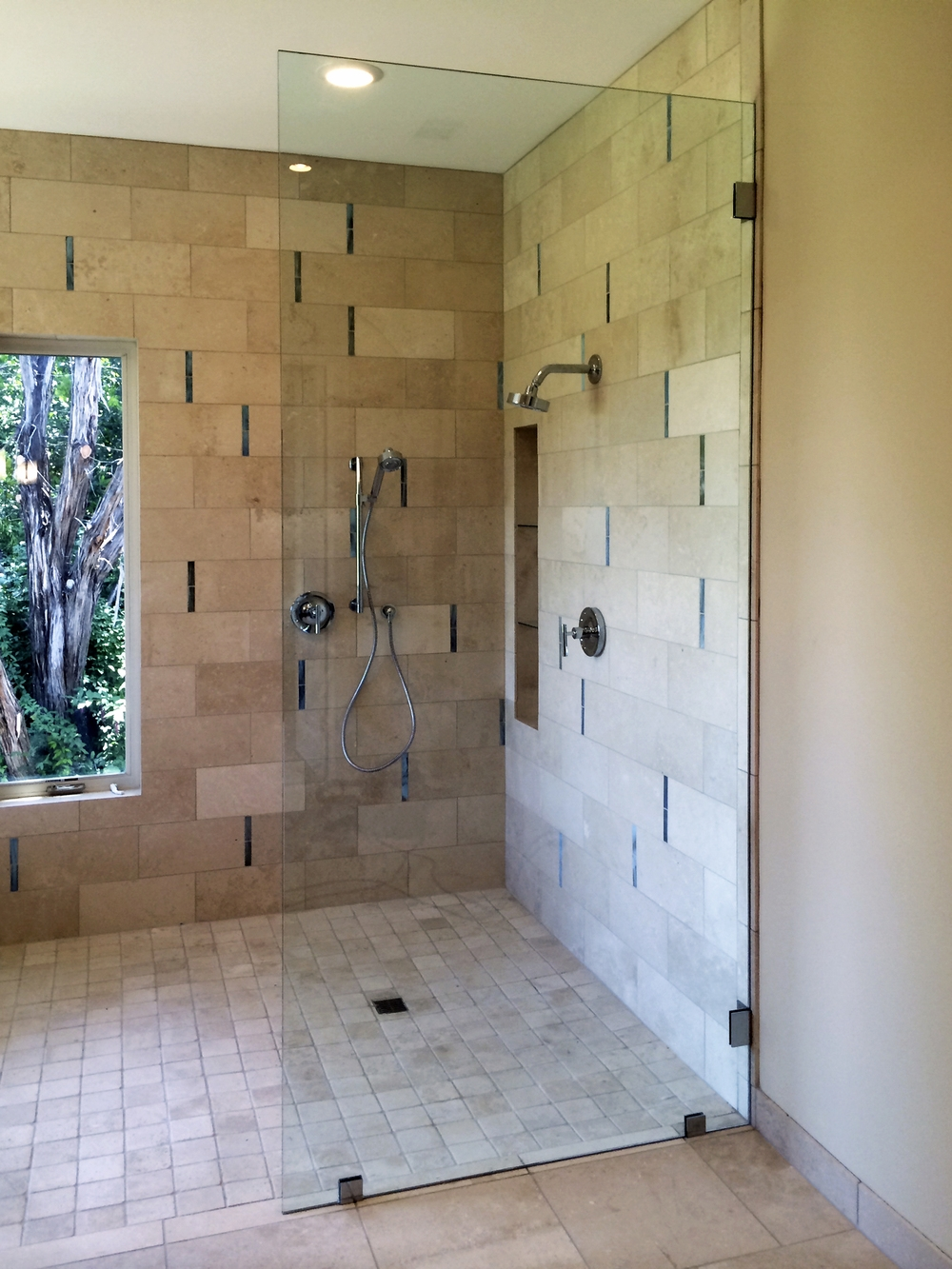 Half Glass Shower Door Splashglass screens panels shower doors of austin