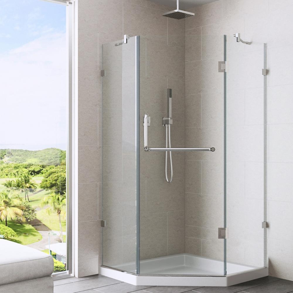38 X 38 Neo Angle Shower Doorsvigo piedmont 4025 in x 7675 in semi framed neo angle shower