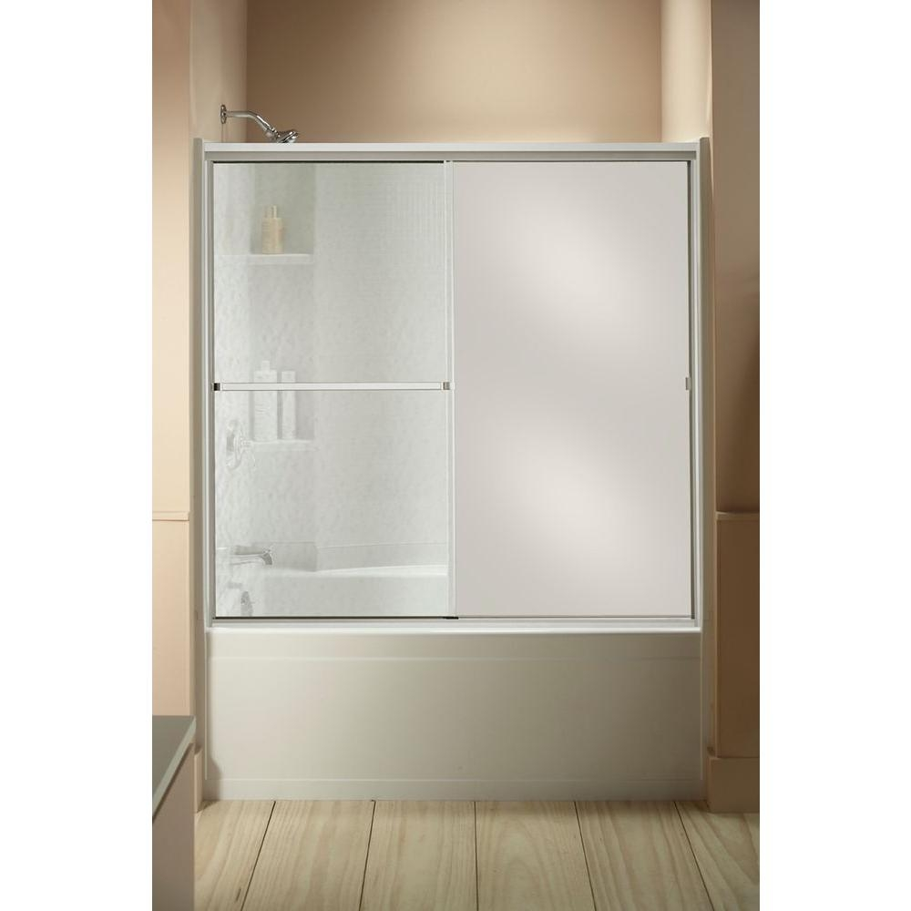 Bathtub Shower Doors With Mirrorsterling standard 59 in x 56 716 in framed sliding tub and