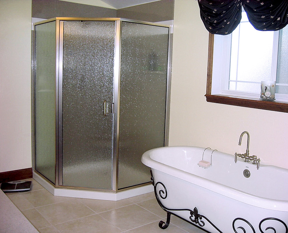 Clear Or Obscure Shower Door