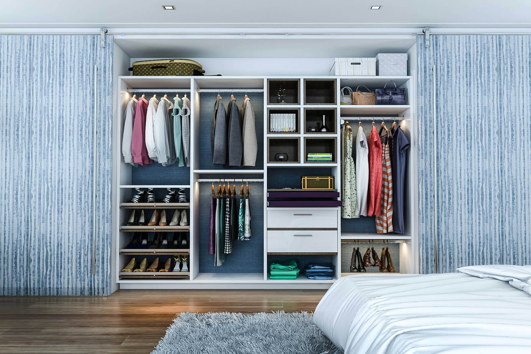 Closet Systems With Sliding Doors