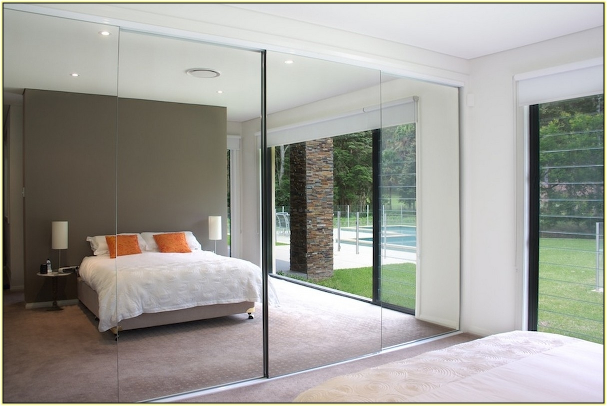 Frameless Mirrored Closet Doors