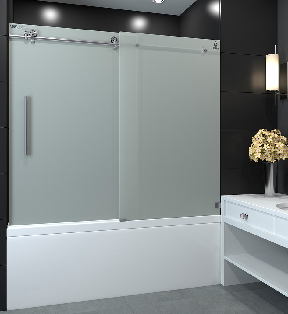 Frosted Shower Doors For Tubs Doors Ideas