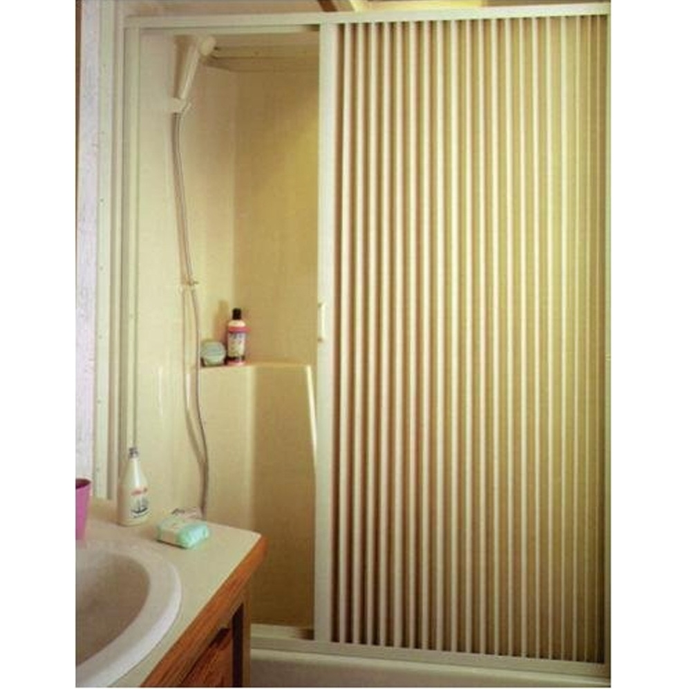 Irvine 3667si Ivory Pleated Shower Door
