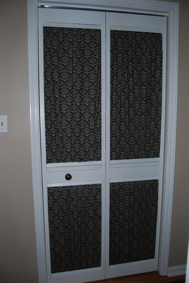 Louvered Closet Door Makeover