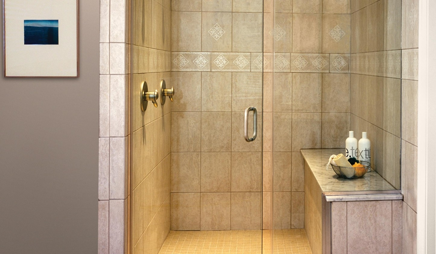 Non Clear Glass Shower Doors