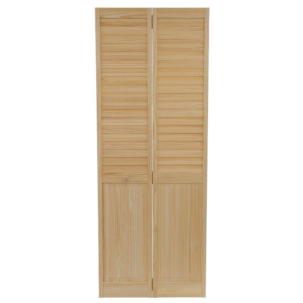 Solid Wood Louvered Closet Doors
