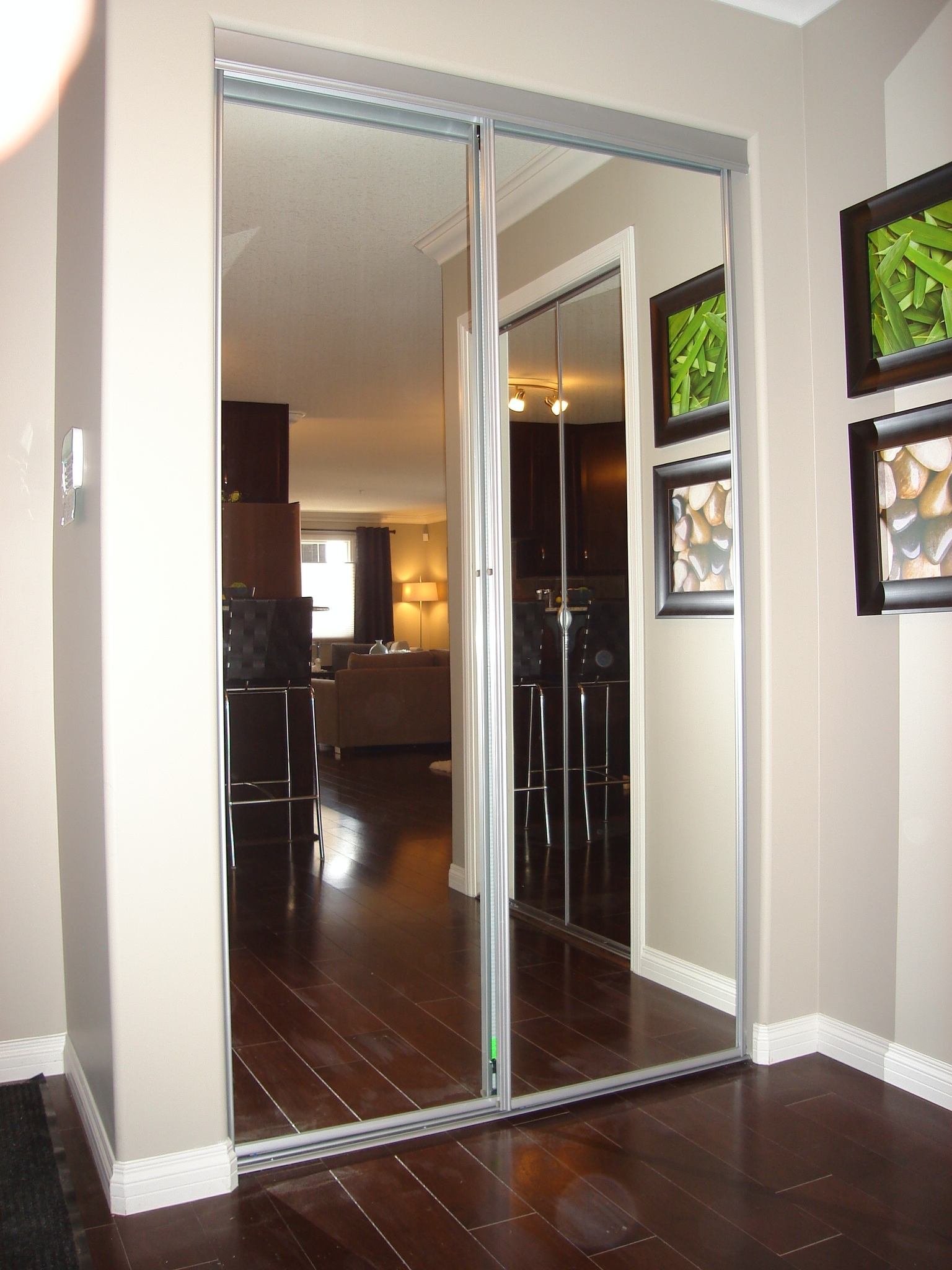 Swing Out Mirrored Closet Doors