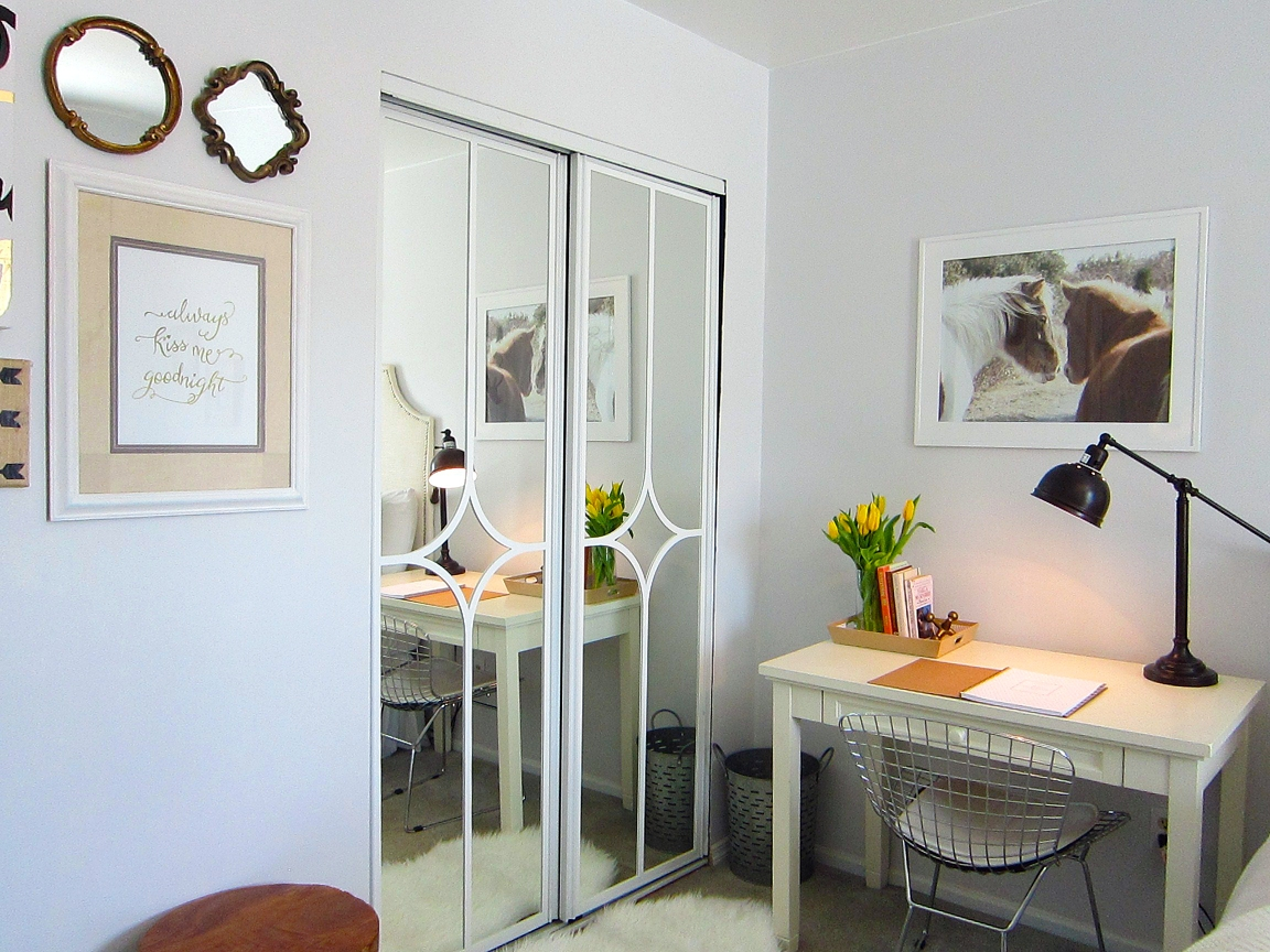 Updating Mirrored Sliding Closet Doors