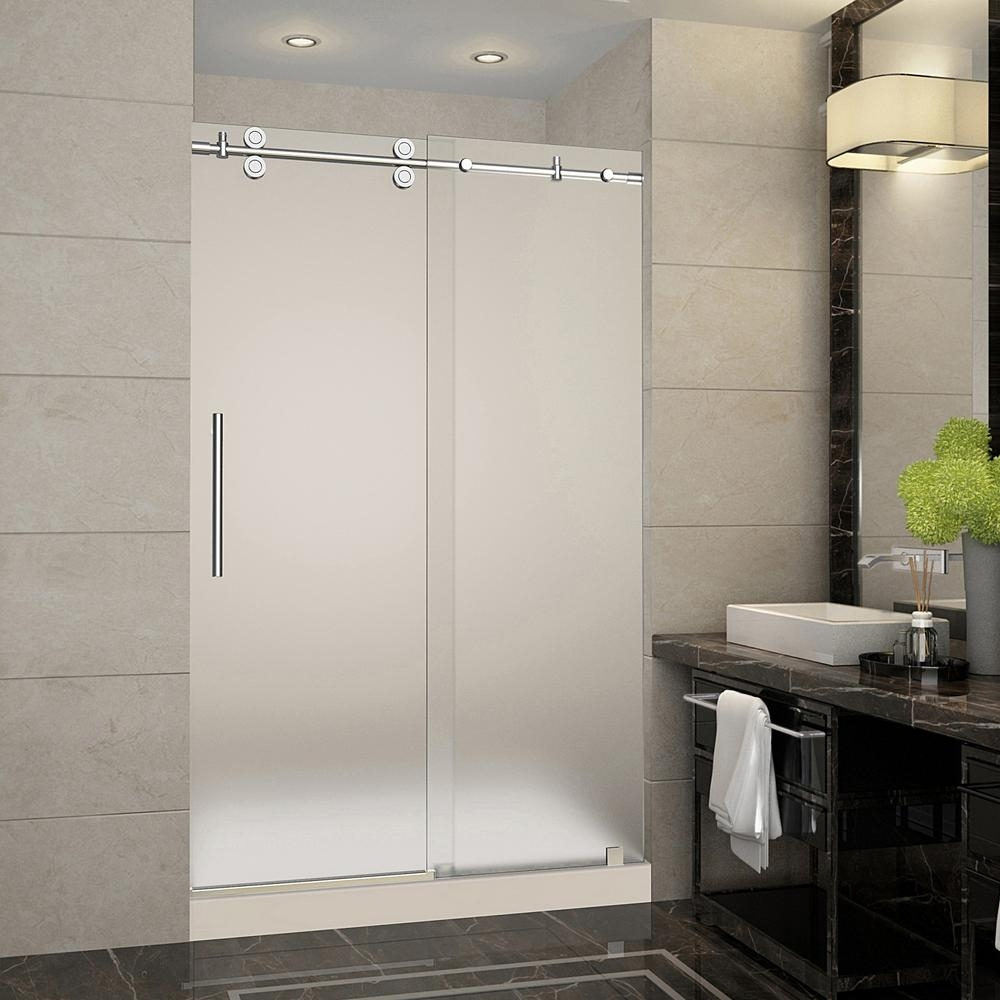 24 Frameless Shower Door Oil Rubbed Bronze