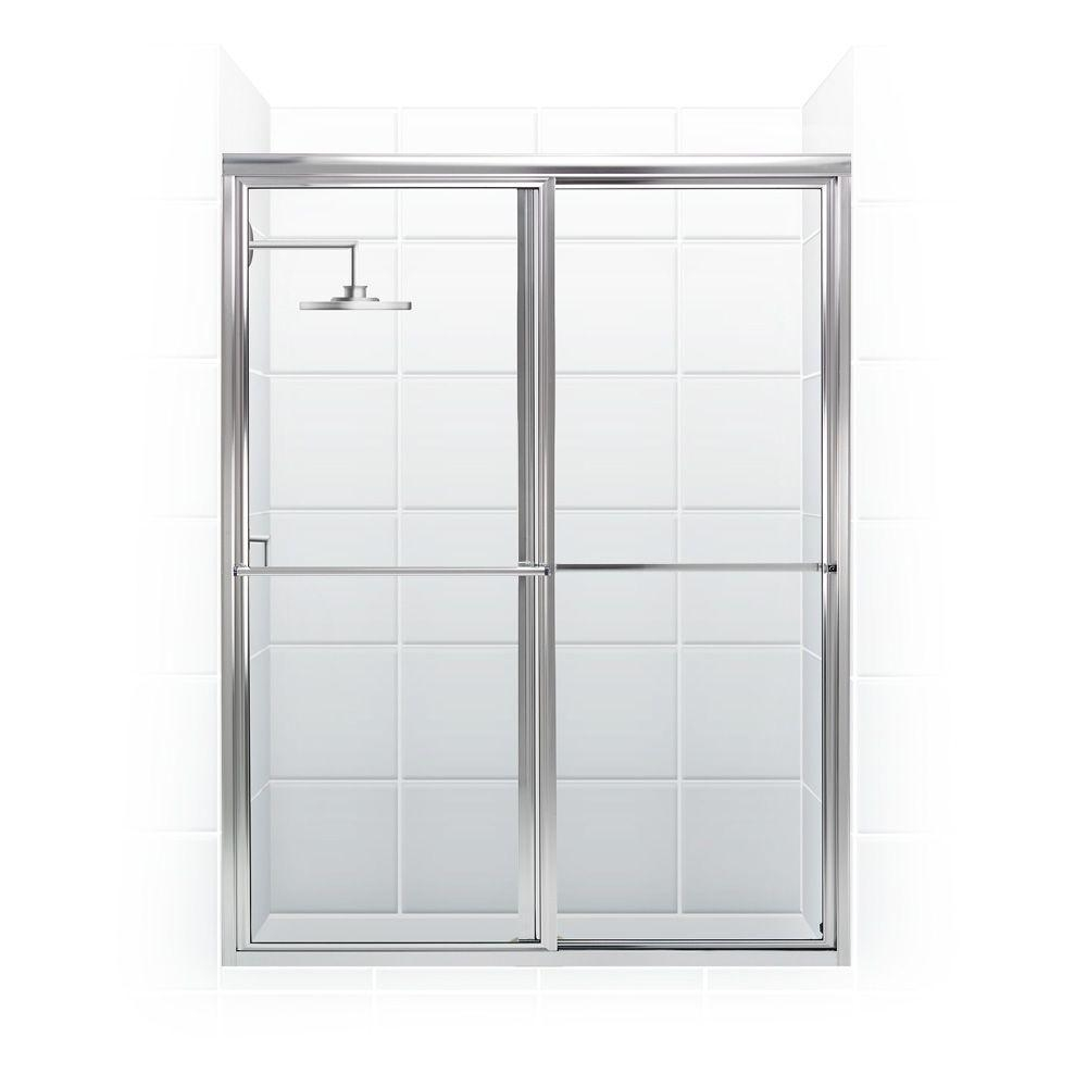Framed Sliding Shower Door Towel Barcoastal shower doors newport series 50 in x 70 in framed sliding