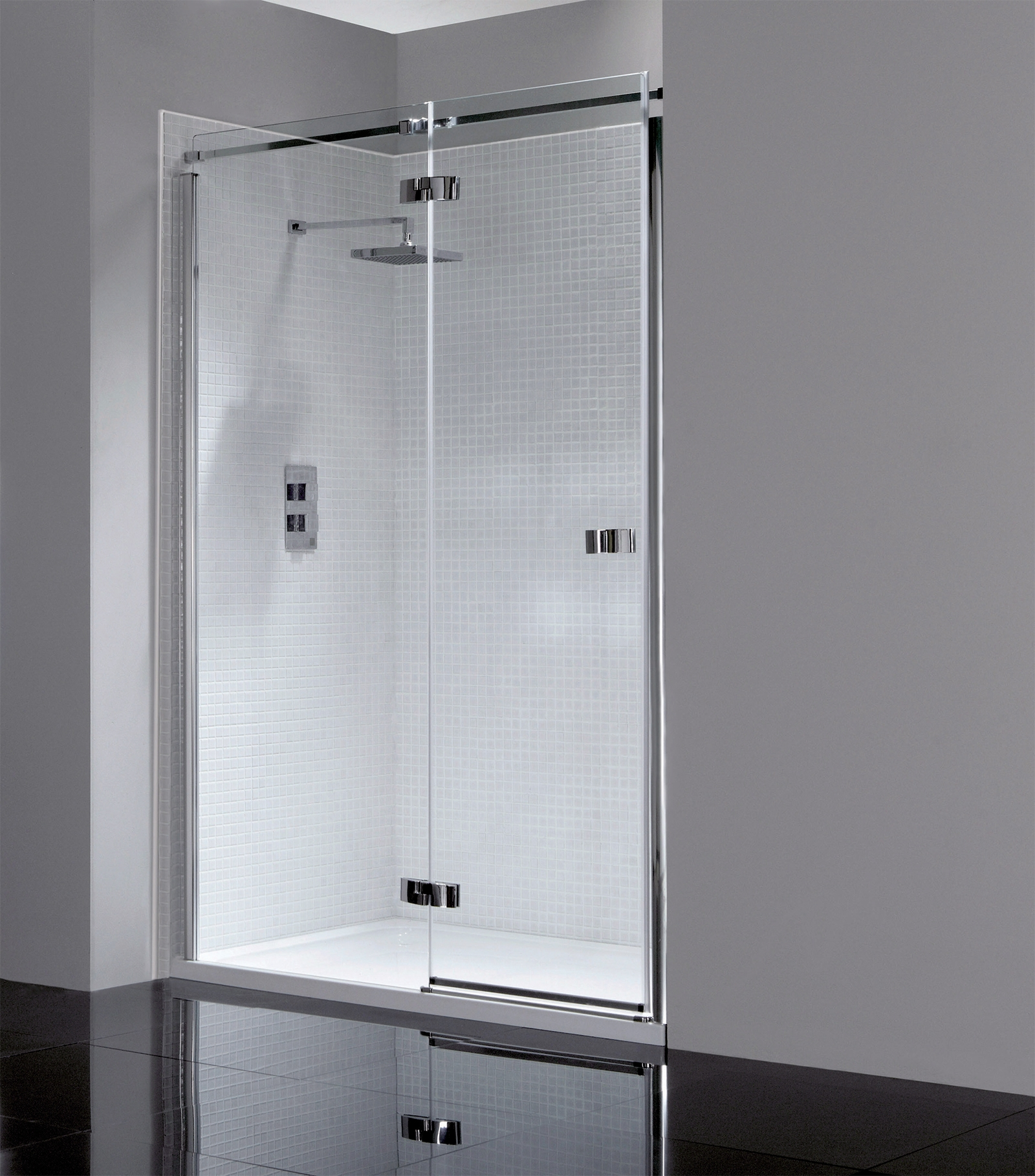 Frameless Hinged Shower Doors 1200mm
