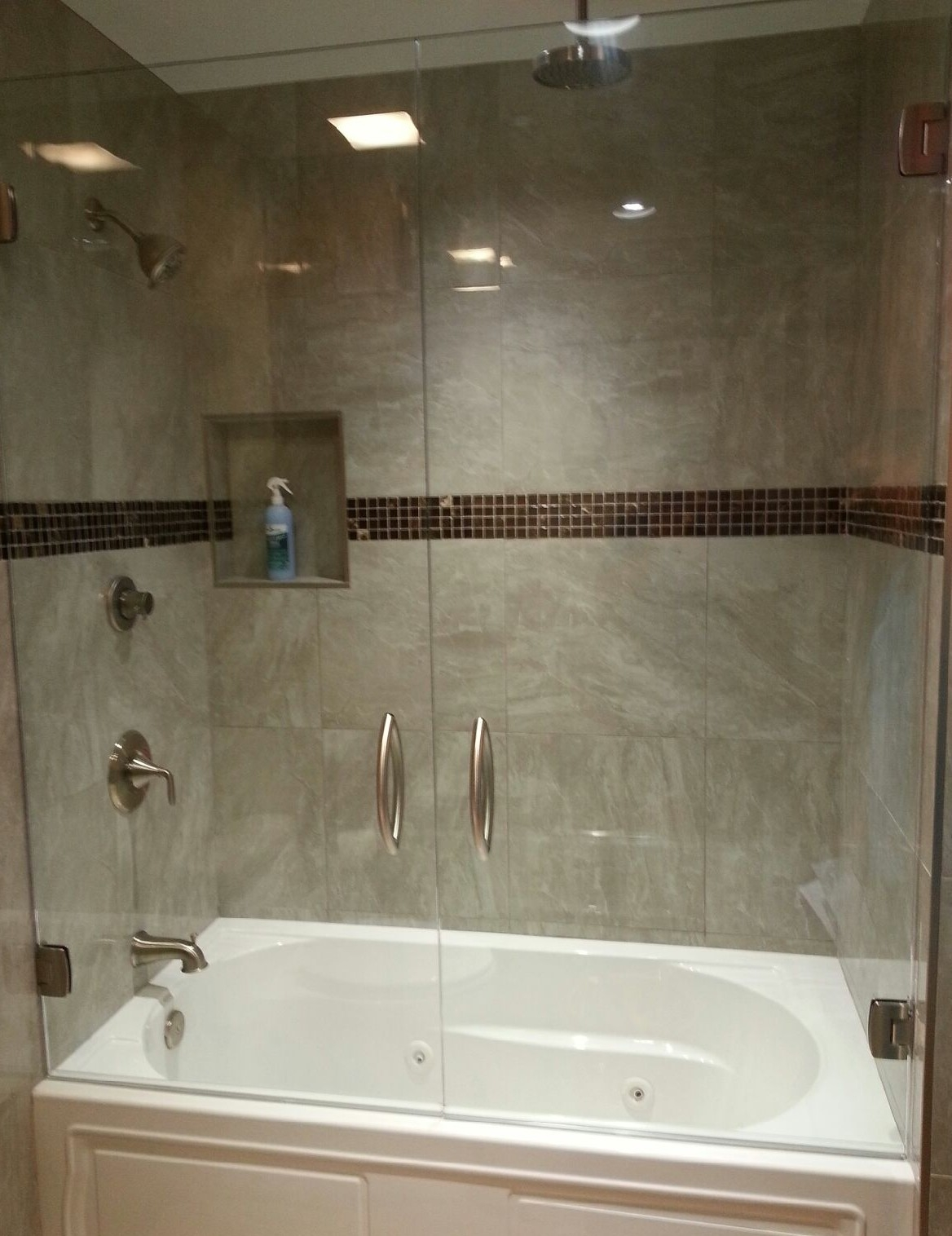 Glass Shower Door Over Tub