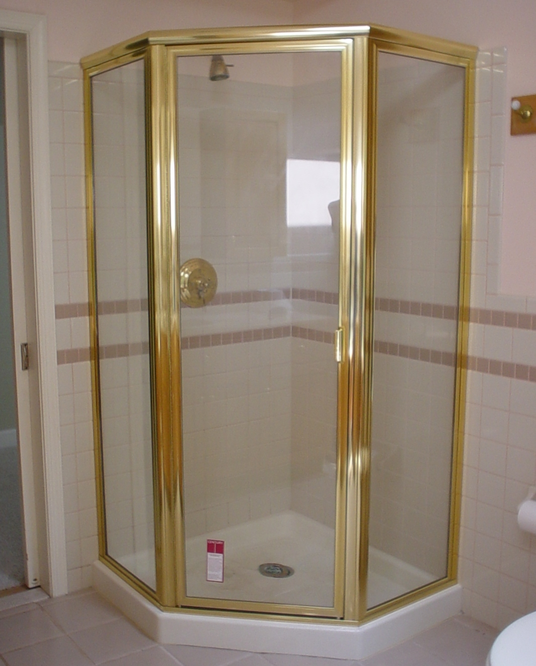 Gold Coloured Shower Doors
