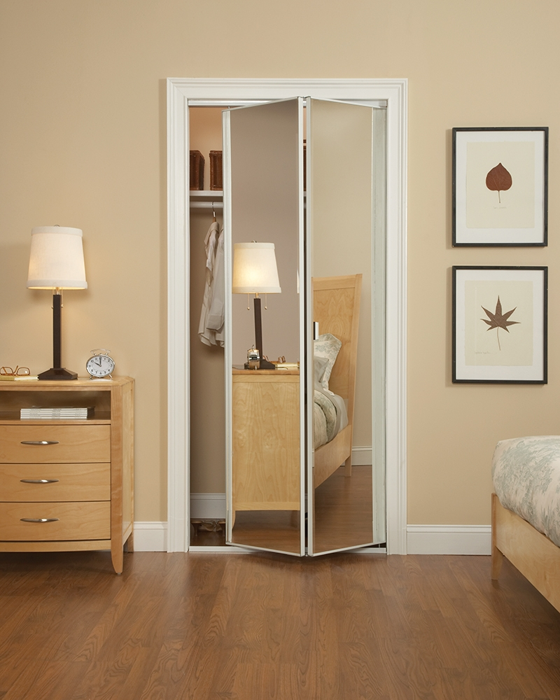 Mirrored Folding Doors For Closets