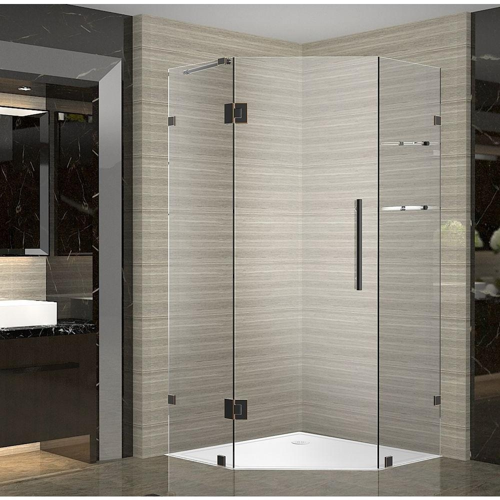 Neo Angle Shower Doors Oil Rubbed Bronze