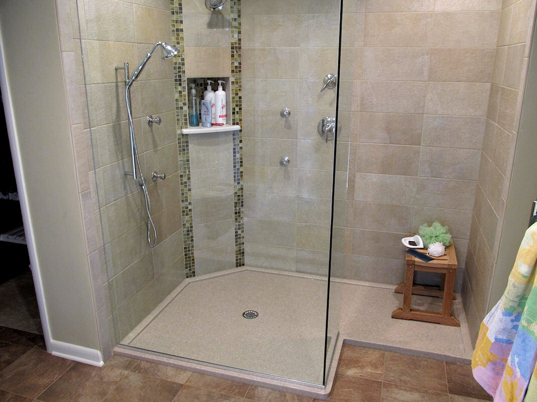 Shower Pan With Glass Doors