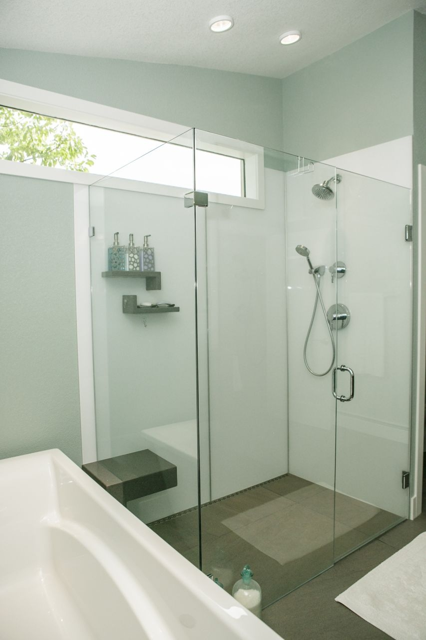 Acrylic Shower Door Panels7 reasons to choose a shower door over a shower curtain