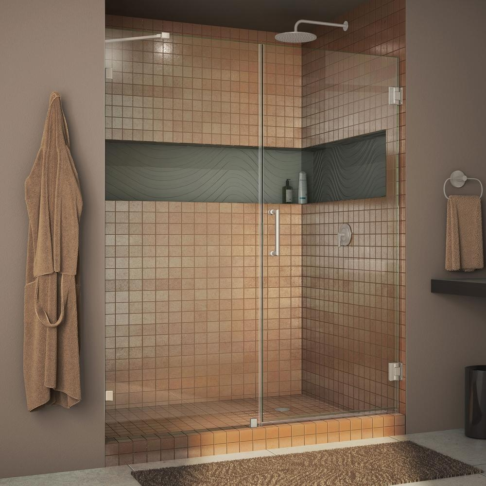 Frameless Pivot Shower Doors 60