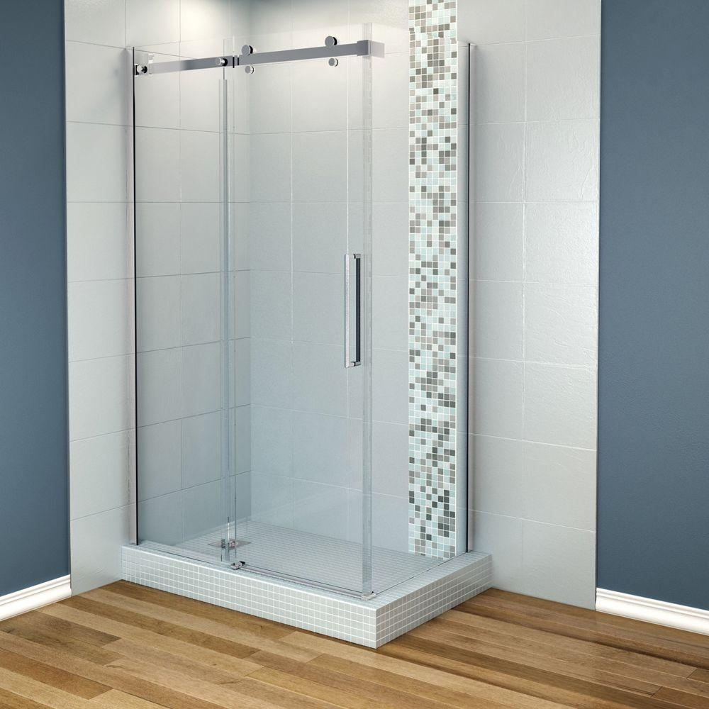 Maax Sliding Glass Shower Doorsmaax halo 48 in x 31 78 in frameless corner sliding shower