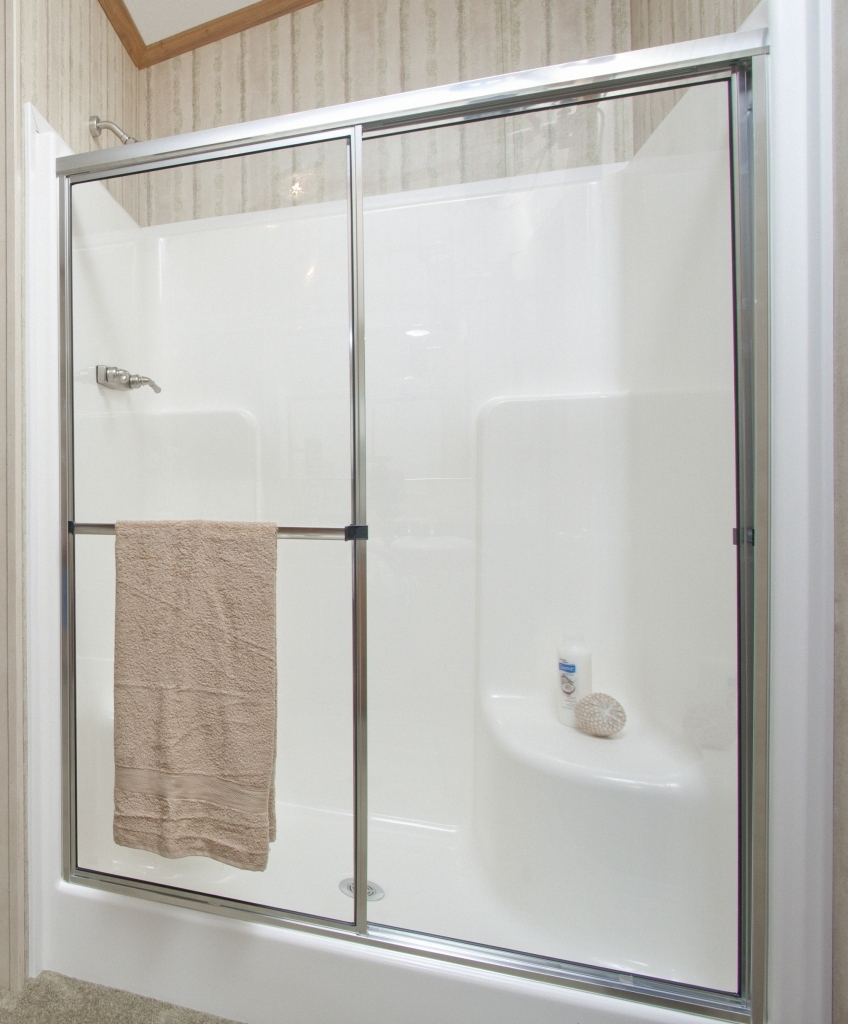 One Piece Shower Stalls With Glass Doors Doors Ideas