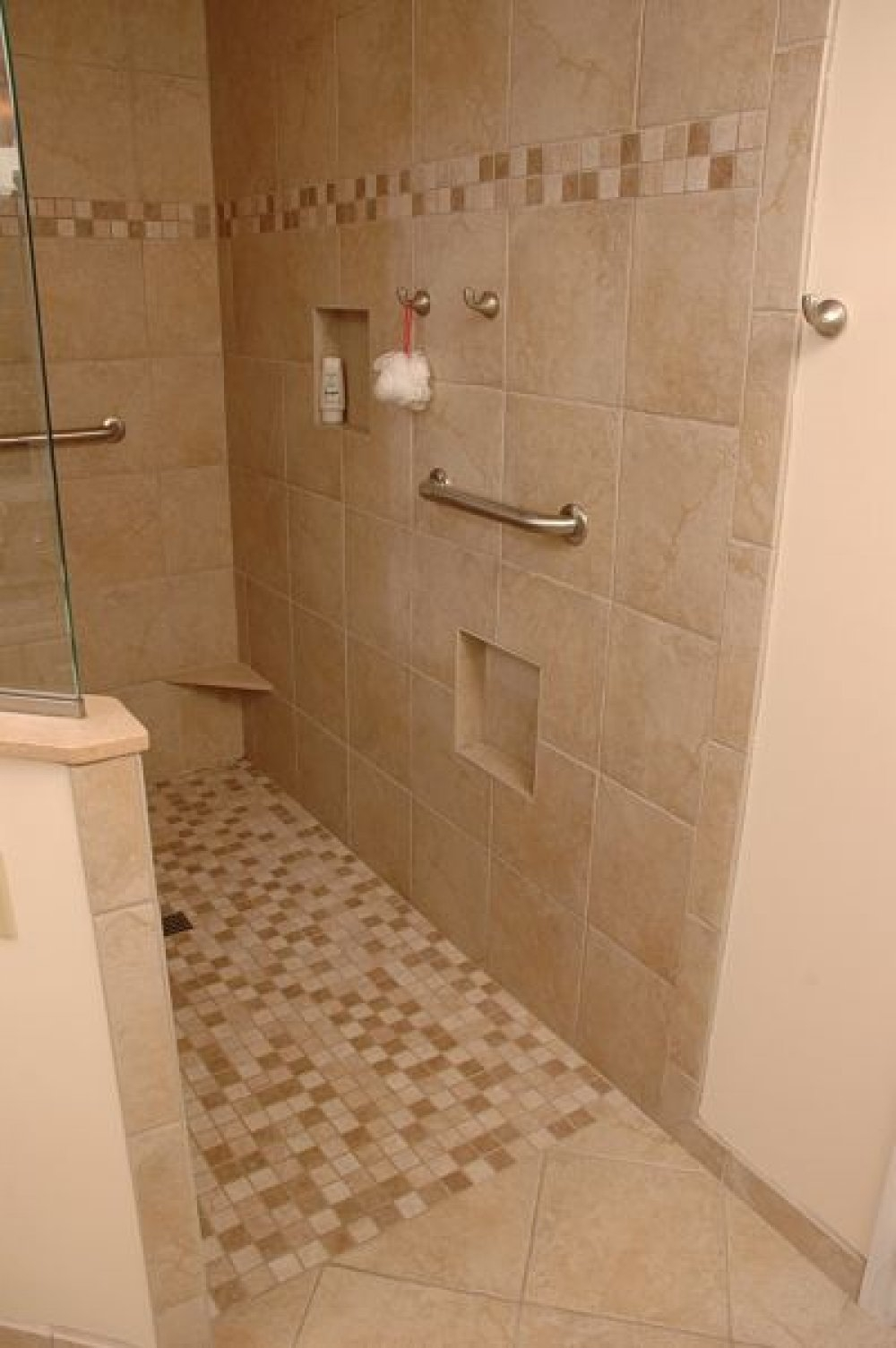 Open Shower No Door Designs