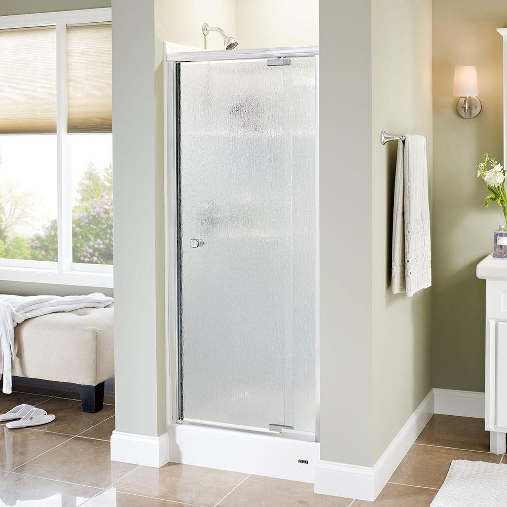 Pivot Shower Door Rain Glass