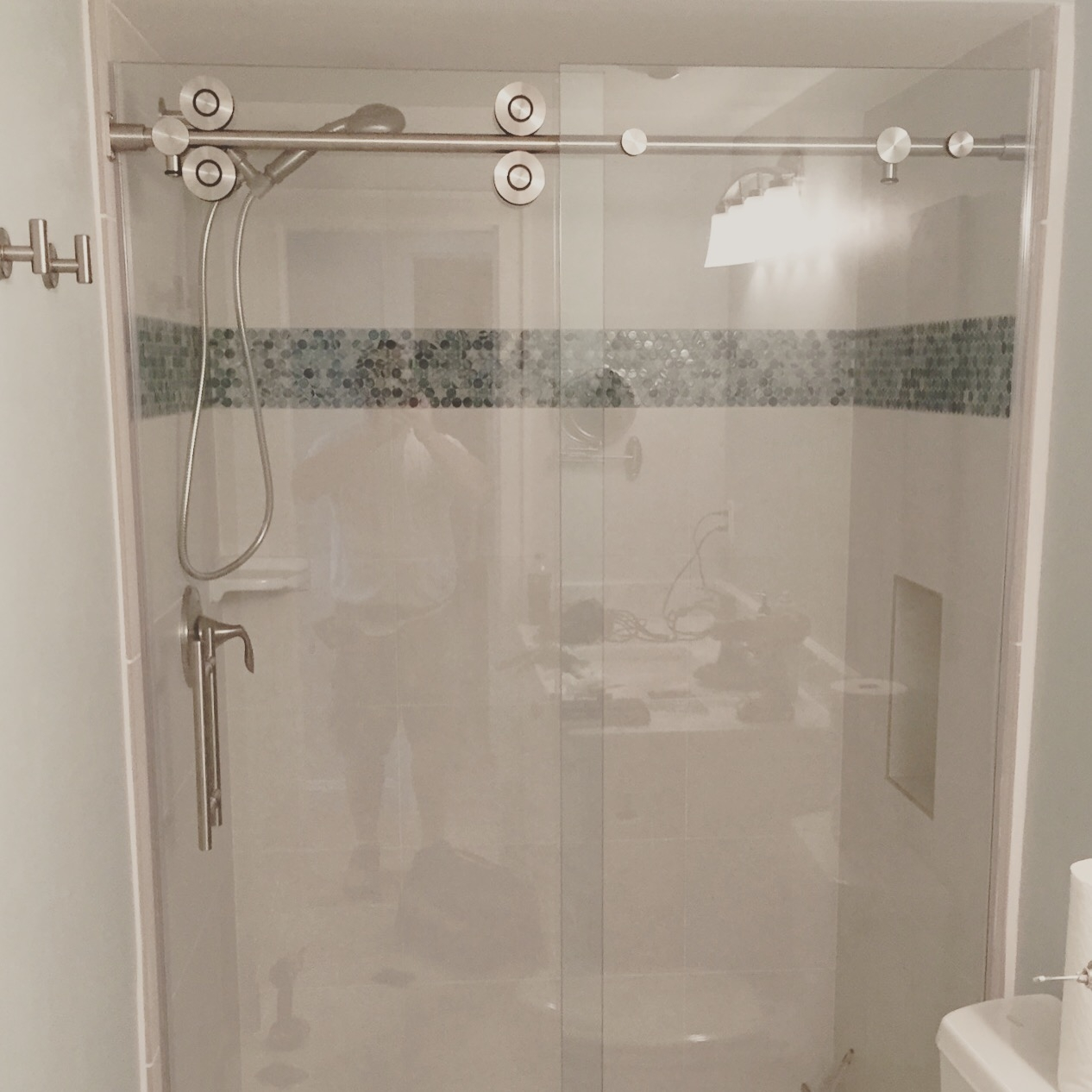 Barn Door Sliding Glass Shower Doorsbarn style glass shower doors builders glass of bonita inc