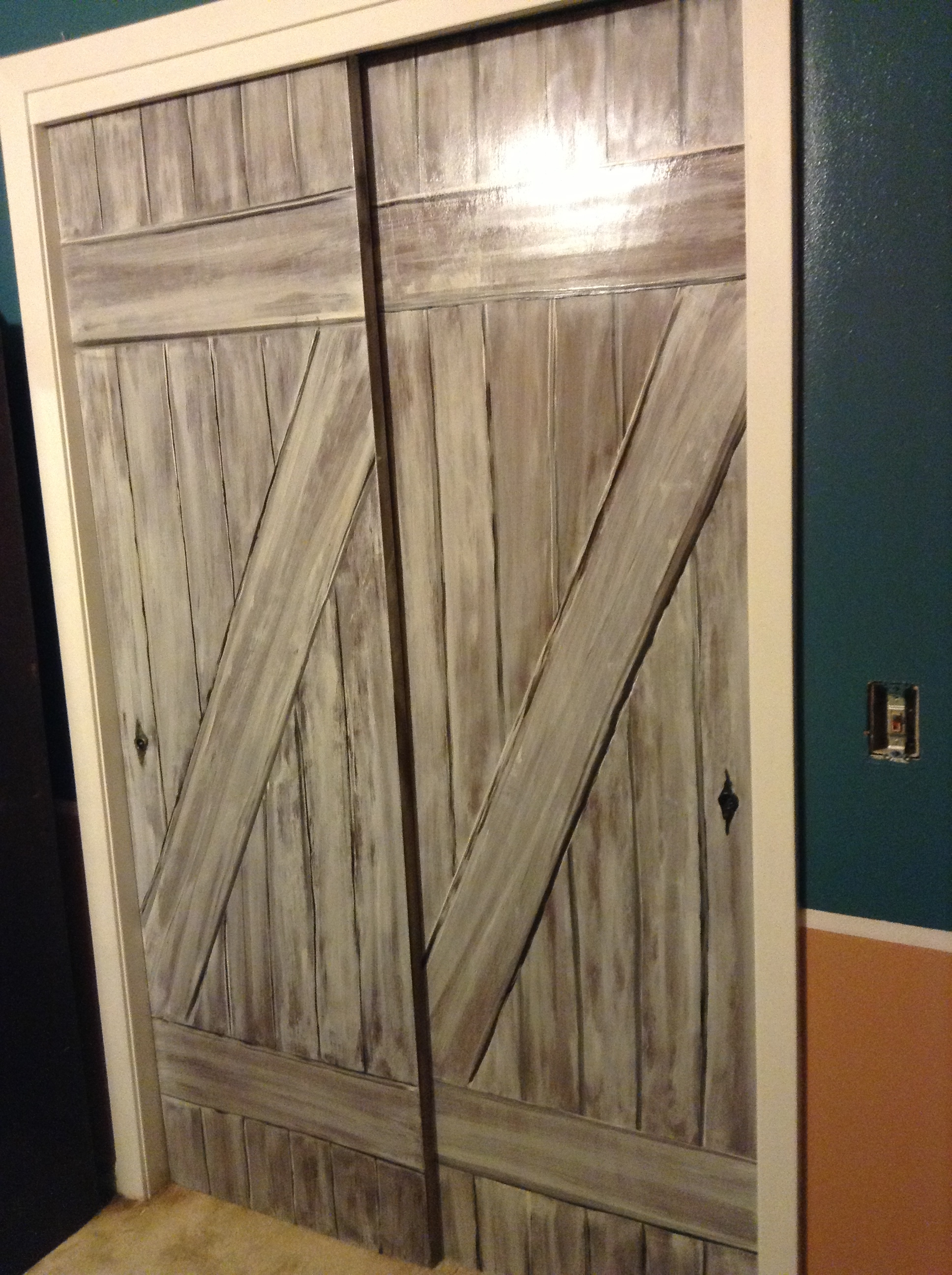 Permalink to Faux Barn Door Closet Doors