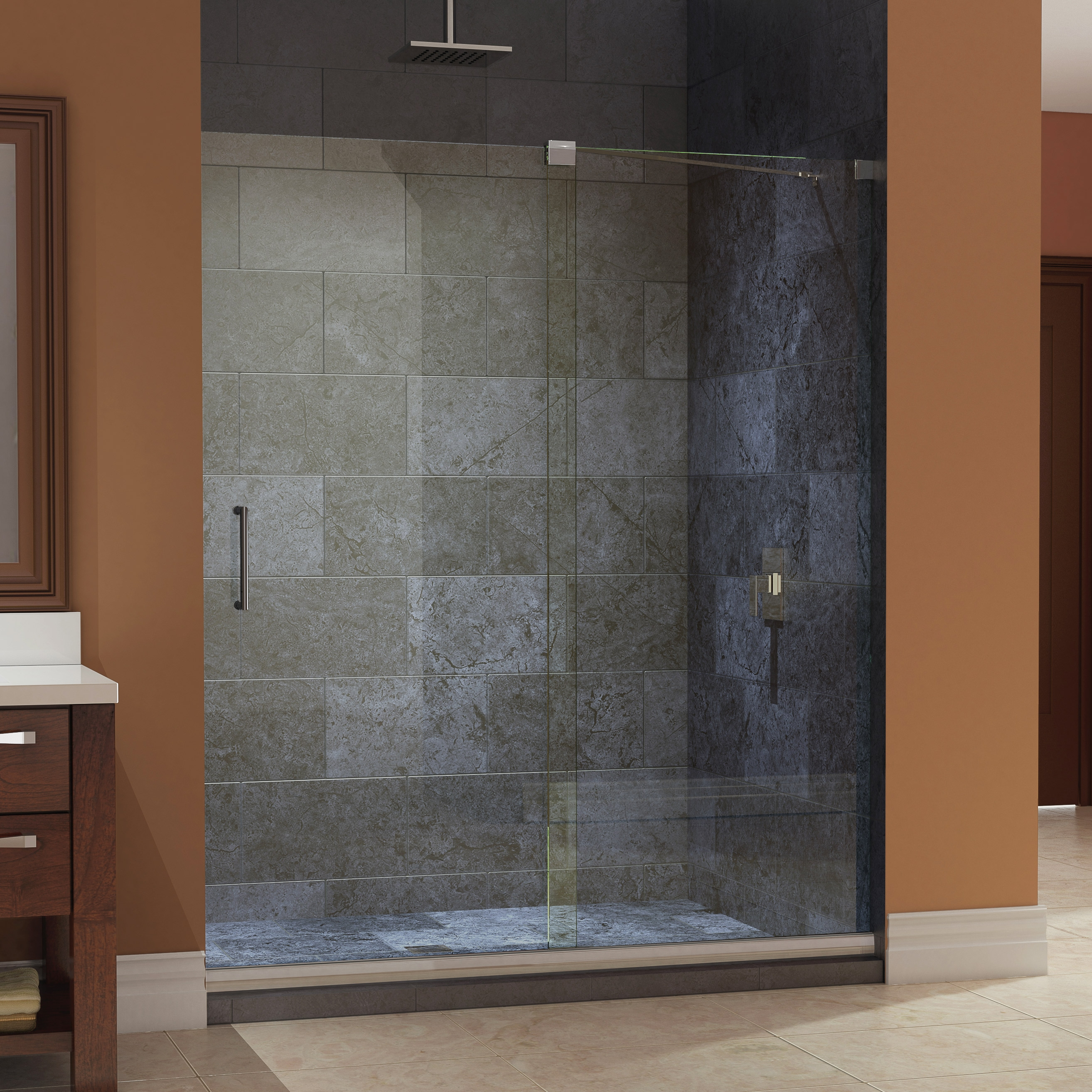 Frameless Glass Shower Door Threshold